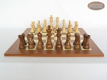 Royal Rosewood and Maple Staunton Chessmen with Spanish Traditional Chess Board [Extra Large]