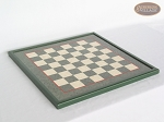 Champion Brass Staunton Chessmen with Italian Lacquered Board [Green]