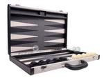 Aries™ Professional Backgammon Set - Canvas Case with Grey Field