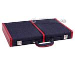 Aries™ Professional Backgammon Set - Denim Case with Grey Field