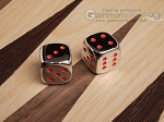 5/8 in. Zinc Alloy Metal Dice - Red (1 pair)