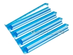 Modern Pushers - Rack & Pusher Combined - Acrylic - Blue Clear - Set of 4