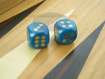 5/8 in. Rounded Wood Dice - Blue (1 pair)