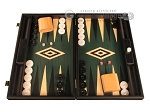 Black Backgammon Set - Large - Green Field