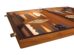 Walnut Backgammon Set - Large - Blue