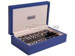 Silverman & Co. Double 6 Large Black Domino Set - Blue Case
