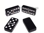 Silverman & Co. Double 6 Large Black Domino Set - Brown Case