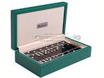 Silverman & Co. Double 6 Large Black Domino Set - Green Case