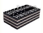 Silverman & Co. Double 9 Large Black Domino Set - Blue Case