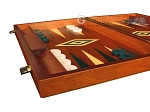 Mahogany Backgammon Set - Large - Green