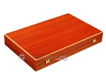 Padauk Backgammon Set - Large - Black Field