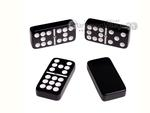 Silverman & Co. Double 9 Large Black Domino Set - Brown Case