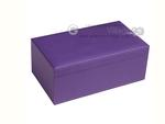 Silverman & Co. Double 9 Large White Domino Set - Purple Case