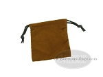 Deluxe Brown Felt Dice Bag - (4 in. x 5 in.)