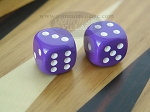3/8 in. Rounded High Gloss Solid Dice - Purple (1 pair)