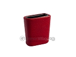 Leatherette Backgammon Dice Cup - Oval - Red