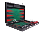 Hector Saxe Faux Leather Backgammon Set - Green Field