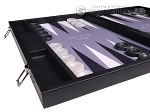 Hector Saxe Faux Leather Backgammon Set - Grey Field