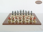 Magnificent Chessmen with Spanish Traditional Chess Board [Large]