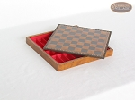 Patterned Italian Leatherette Chess Board with Storage [Small]