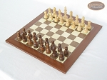 Exclusive Staunton Maple Chessmen with Spanish Traditional Chess Board