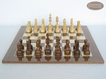 Exclusive Staunton Maple Chessmen with Spanish Lacquered Chess Board [Wood]