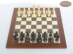 Professional Staunton Maple Chessmen with Spanish Traditional Chess Board [Small]
