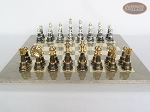 The Grand Chessmen with Large Spanish Lacquered Chess Board [Grey]