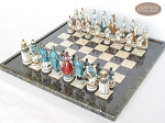 Confederate vs. Union Chessmen with Italian Lacquered Board [Black]
