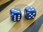5/8 in. Rounded High Gloss Flecked Dice - Blue (1 pair)