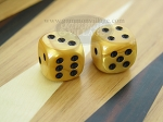 5/8 in. Rounded High Gloss Flecked Dice - Gold (1 pair)