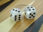 1/2 in. Rounded High Gloss Flecked Dice - White (1 pair)