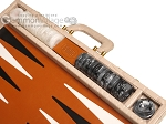 Marcello de Modena™ Leather Backgammon Set - Model MM-121 - Large - Croco Beige