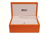 Silverman & Co. Double 9 Large Black Domino Set - Orange Case