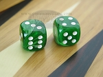5/8 in. Rounded High Gloss Swoosh Dice - Arctic Green (1 pair)