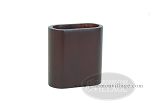 Wood Backgammon Dice Cup - Oval - Mahogany