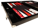 Wycliffe Brothers® 21-inch Tournament Backgammon Set - Black Croco Case with Black Field - Gen III