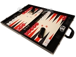 Wycliffe Brothers® 21-inch Tournament Backgammon Set - Black Croco Case with Cream Field - Gen III