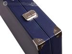 Wycliffe Brothers® 21-inch Tournament Backgammon Set - Blue Case with Vanilla Field - Masters Edition
