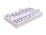 Silverman & Co. Double 6 Large White Domino Set - Black Case