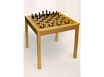 4280 - Wooden Chess / Backgammon Table