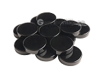 Backgammon Checkers - High Gloss Melamine - Black (1 3/16 in. Dia.) - Roll of 15