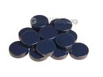 Backgammon Checkers - High Gloss Melamine - Dark Blue (1 3/16 in. Dia.) - Roll of 15