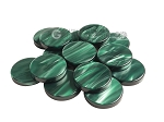 Backgammon Checkers - Pearled Acrylic - Green (1 1/2 in. Dia.) - Roll of 15