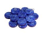 Backgammon Checkers - Grizzly Acrylic - Blue (1 5/16 in. Dia.) - Roll of 15
