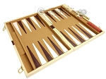 15-inch Deluxe Backgammon Set - Camel