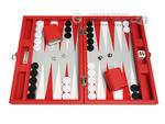 13-inch Premium Backgammon Set - Red