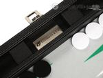 13-inch Premium Backgammon Set - Black with White and Green Points