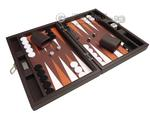 13-inch Premium Backgammon Set - Dark Brown