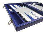 16-inch Premium Backgammon Set - Indigo Blue